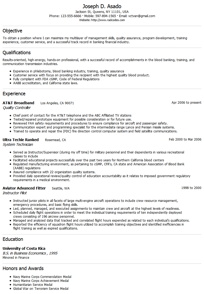 purchase profile resume
